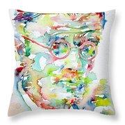 James Joyce Portrait.1 Throw Pillow