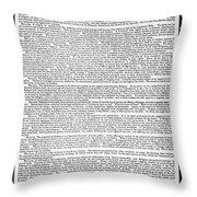 James Madison Memorial Throw Pillow