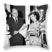 James Michener In Tokyo Throw Pillow