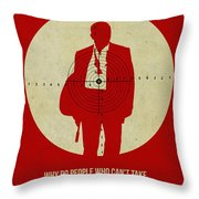 James Poster Red Throw Pillow