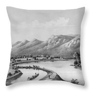 James River Canal, 1857 Throw Pillow