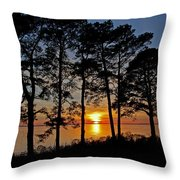 James River Sunset Throw Pillow