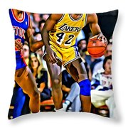 James Worthy Throw Pillow
