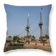 Jamestown Historic Sailingships Throw Pillow