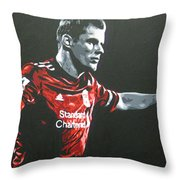 Jamie Carragher - Liverpool Fc Throw Pillow