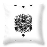 Jammer Asymmetrical Symmetry Throw Pillow