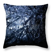 Jammer Blue Hematite 001 Throw Pillow