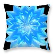 jammer Blue Shimmer Lotus Throw Pillow