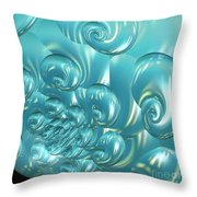 Jammer Bubbling Sky Throw Pillow