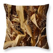 Jammer Corn Abstract 001 Throw Pillow