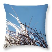 Jammer Crystal Fronds 001 Throw Pillow