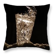 Jammer Crystal Ice Torch  Throw Pillow