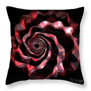 jammer Red Ribbon Throw Pillow