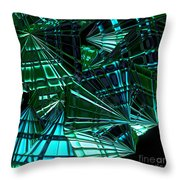 Jammer Swirling Emeralds  Throw Pillow