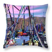 Jammin At Twilight Throw Pillow