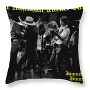 Jamming With Jimmy Hall Throw Pillow