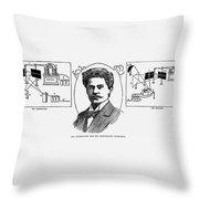 Jan Szczepanik (1872-1926) Throw Pillow