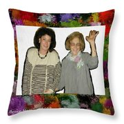 Jane And Mom Throw Pillow