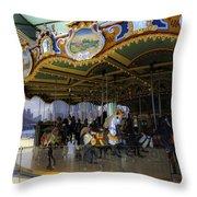 Jane's Carousel 1 In Dumbo Throw Pillow