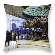 Jane's Carousel 2 In Dumbo - Brooklyn Throw Pillow