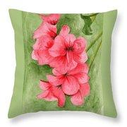 Jane's Flowers Throw Pillow