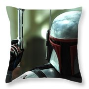Jango Fett Throw Pillow