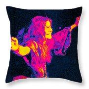 Janis Joplin Psychedelic Fresno 2 Throw Pillow by Joann Vitali
