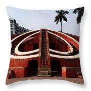 Jantar Mantar - New Delhi - India Throw Pillow