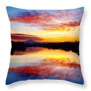 Jantzen Beach Sunrise Throw Pillow