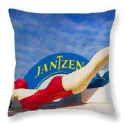 Jantzen Diver Throw Pillow