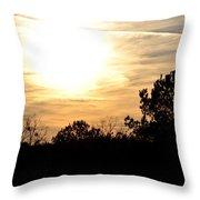 January 2013 Sunset Throw Pillow