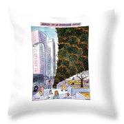 January 3rd At Rockefeller Center Throw Pillow