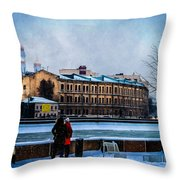 January Afternoon Throw Pillow