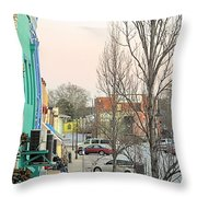 January In Olde Town Throw Pillow
