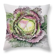 January King Cabbage  Throw Pillow