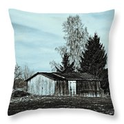 January Sadness Throw Pillow by Jutta Maria Pusl