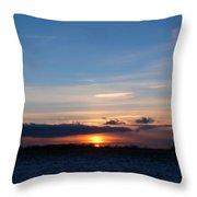 January Sunset 2 Throw Pillow