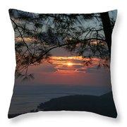 January Sunset Akyaka Throw Pillow