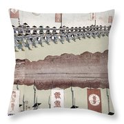 Japan Military Training Throw Pillow