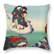 Japan: Tale Of Genji Throw Pillow