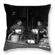 Japan Tea Party Throw Pillow