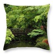 Japanes Garden Reverie Portland Oregon Throw Pillow