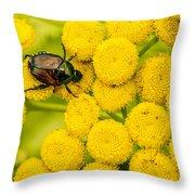 Japanese Beetle She Ruv You Ya Ya Ya Throw Pillow