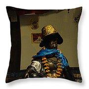 Japanese Buddhist Shrine With Bodhisattva 03 Throw Pillow