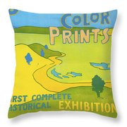 Japanese Color Prints 1896 Throw Pillow