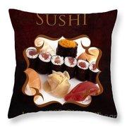 Japanese Cuisine Gallery Throw Pillow