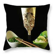 Japanese Fine Dining Throw Pillow