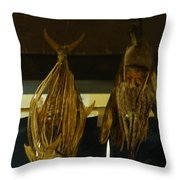Japanese Fish And Seafood Dried Decoration Throw Pillow