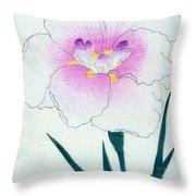 Japanese Flower Throw Pillow