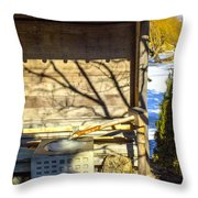 Japanese Fountain Throw Pillow